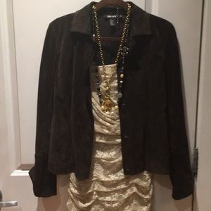Chocolate DKNY Suede S Jacket